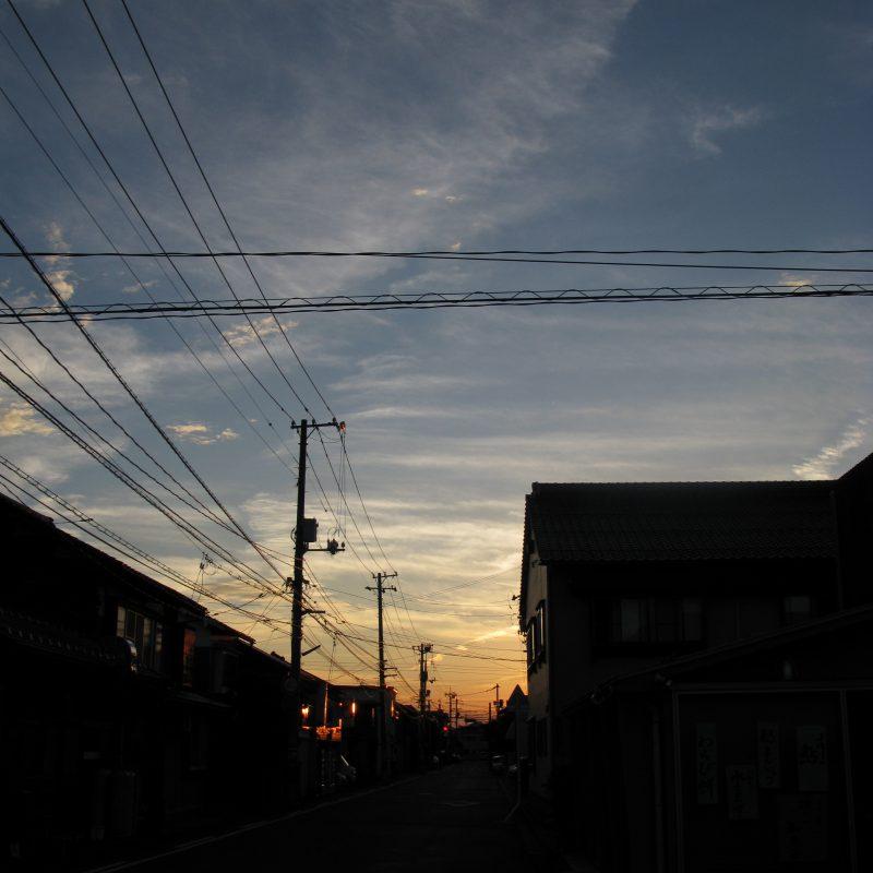 土曜日の夕日(梅雨明け)
