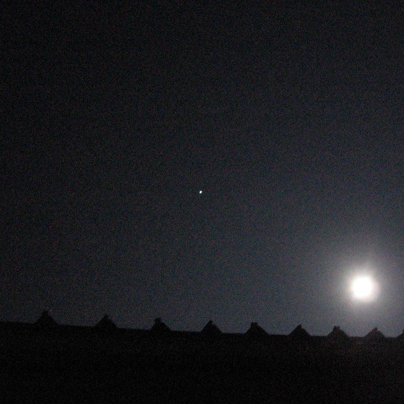 一度に二つ、月と金星