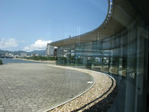 最終目的地「島根県立美術館」だで