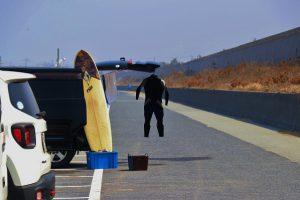 賀露海岸の透明人間